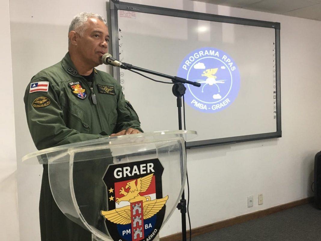 A Aula Inaugural, que contou com a presença e considerações do Ten Cel PM Renato, Comandante do GRAER