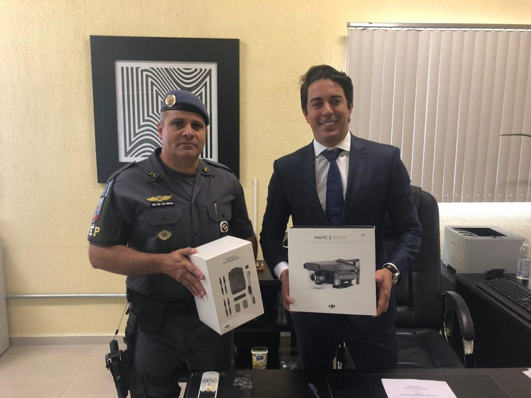 PMESP: Ministério Público doa drone para 5° Batalhão de Ações Especiais de Polícia