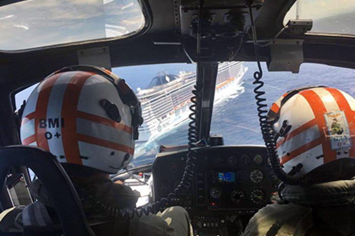 Esquilo UH-12 durante Evacuação Aeromédica