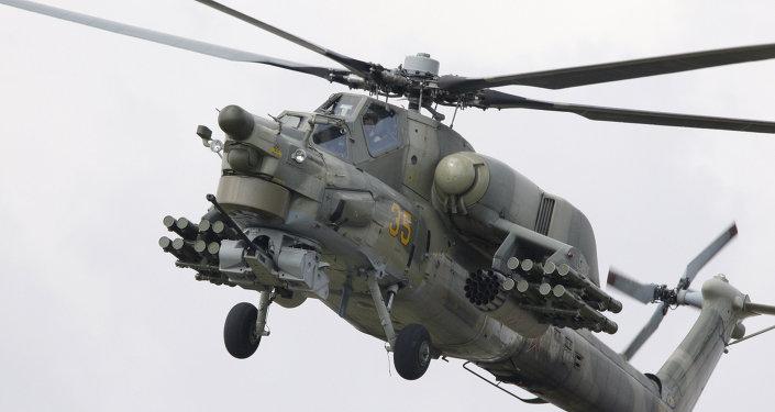 PUTNIK / ANTON DENISOV Helicóptero Mi-28 modernizado tem 'nível essencialmente novo', diz especialista militar