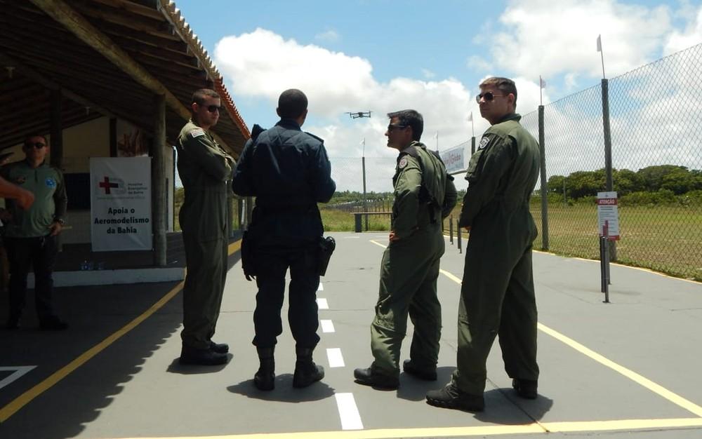 Policiais de Sergipe em curso em parceria com a Polícia Militar da Bahia — Foto: PMSE/Divulgação
