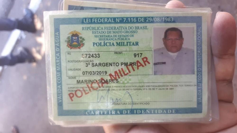Sargento foi morto durante assalto nesta sexta-feira (8) — Foto: Divulgação