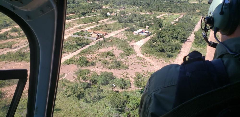 Ciopaer localizou o veículo roubado do sargento em Cuiabá — Foto: Ciopaer-MT