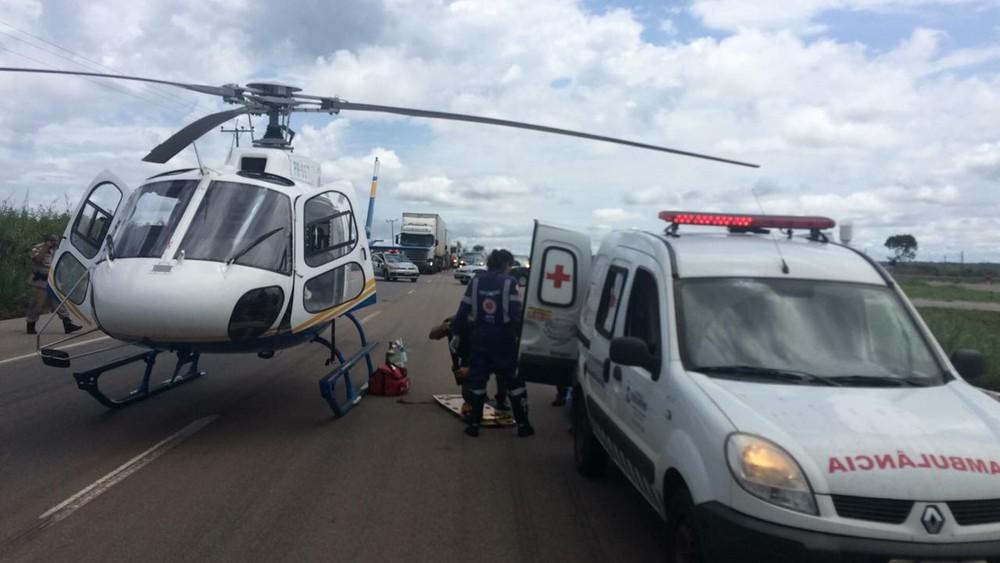 Paciente foi transferida para o HGP — Foto: Divulgação/Ciopaer