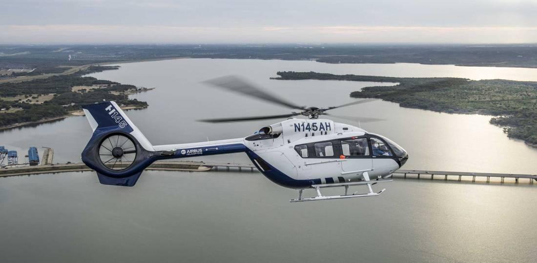 """""""Um H145 é agora um hospital voador"""", disse Chris Emerson, presidente da Airbus Helicopters Inc., braço norte-americano da Airbus Helicopters."""
