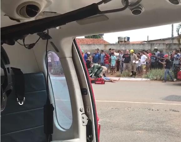 video-mostra-helicoptero-dos-bombeiros-resgatando-vitima-de-acidente-em-goiania