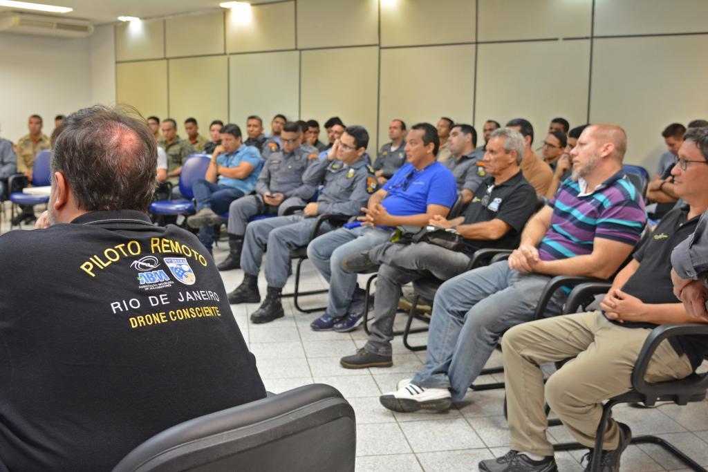 Curso de pilotagem de drone formou 35 servidores do fisco estadual e da segurança pública - Foto por: Lorrana Carvalho/Sefaz-MT
