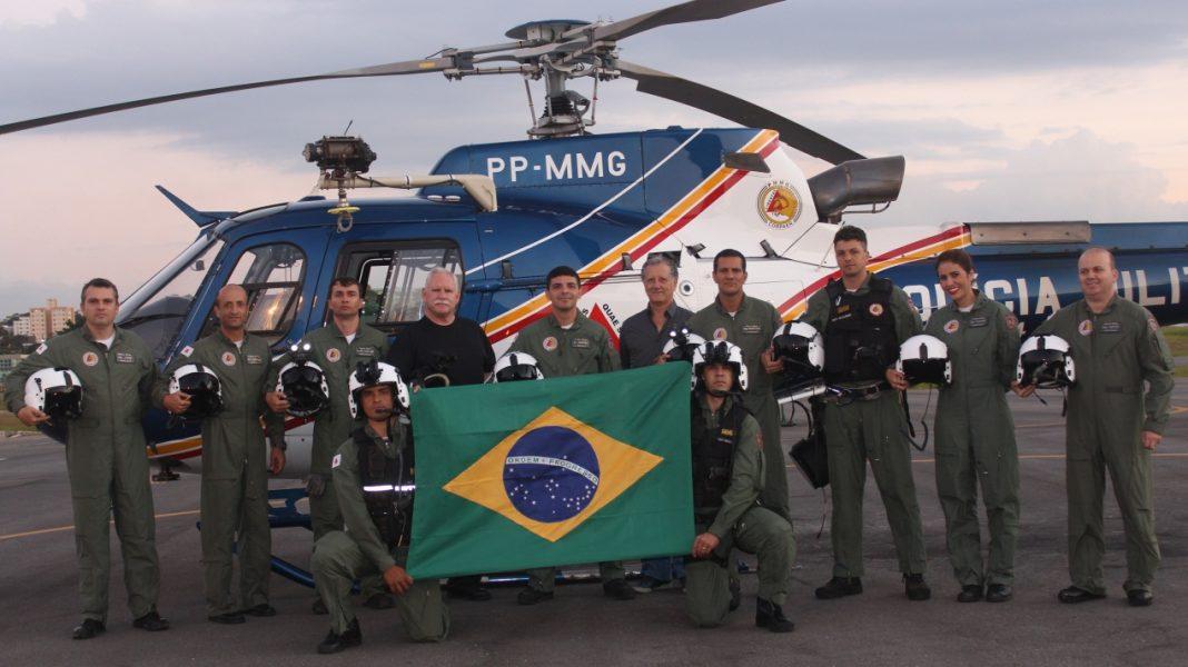 Primeira turma da PM de Minas Gerais que recebeu o treinamento do OVN. Foto: PMMG.