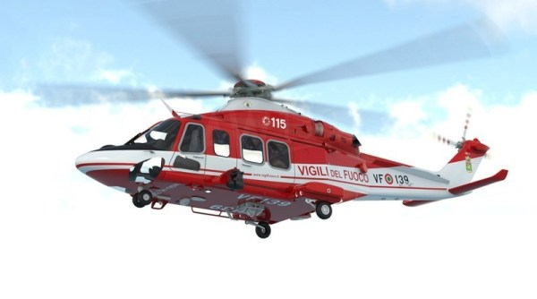 Helicóptero AW139 do Corpo Nacional de Bombeiros da Itália.