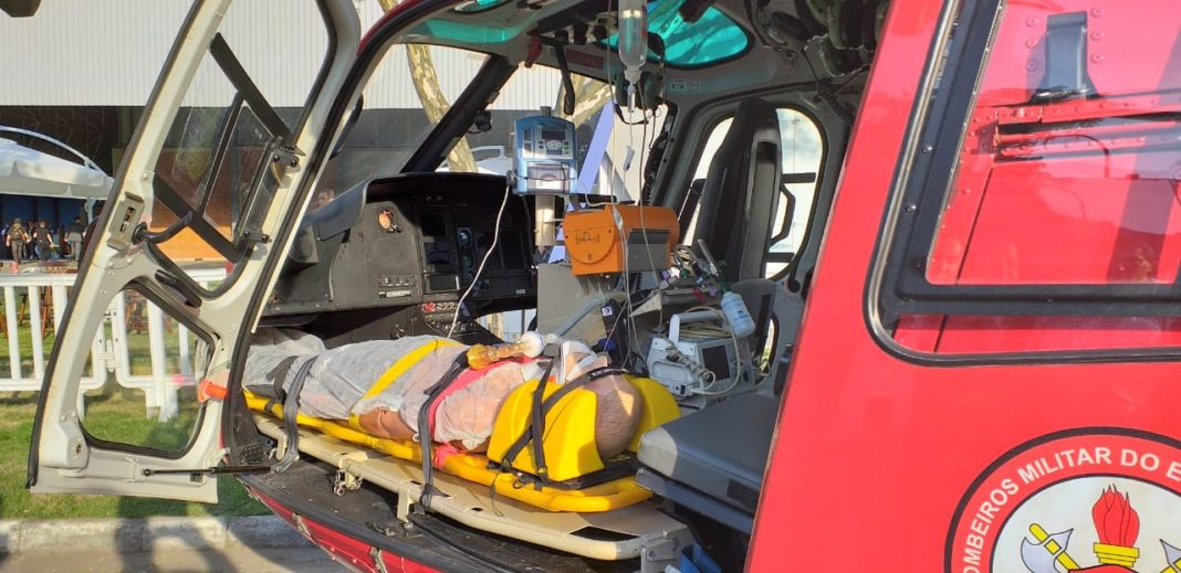 H125 aeromédico do GOA do CBMERJ. Foto: Eduardo Beni.