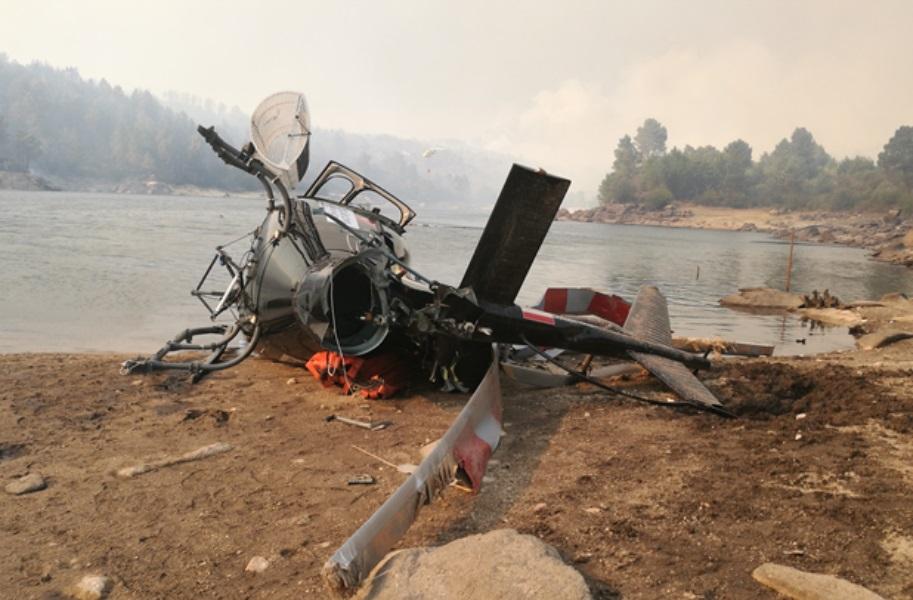 Pouca experiência do piloto e deficiente gestão contribuíram em incidente com helicóptero durante combate a incêndio em Portugal.