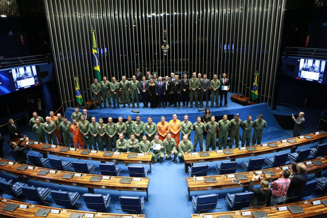 Aviação de Segurança Pública recebe homenagem no Senado Federal