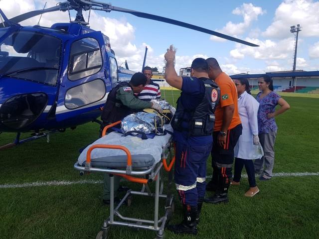 Menina de 2 anos tem 80% do corpo queimado após acidente com panela de pressão na Bahia — Foto: Divulgação/Polícia Militar