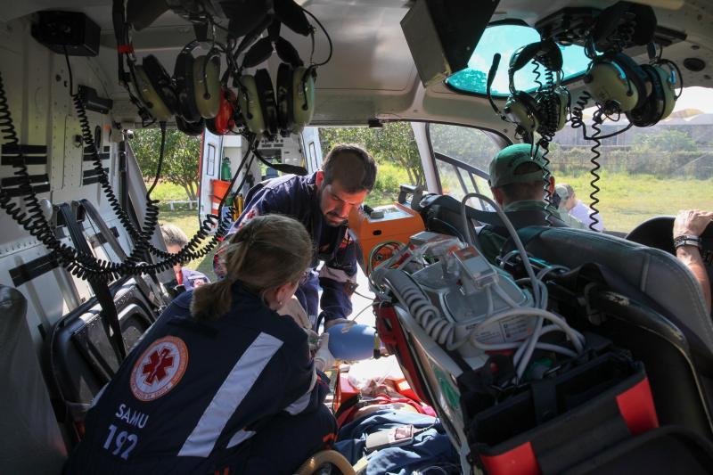 Resgate de paciente foi feito na tarde desta terça-feira Foto: Odair Leal