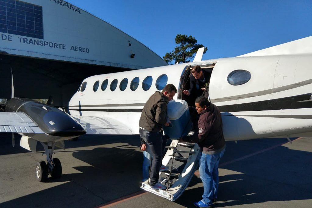 A equipe que realiza o transporte dos órgãos para transplante utiliza aeronaves de última geração