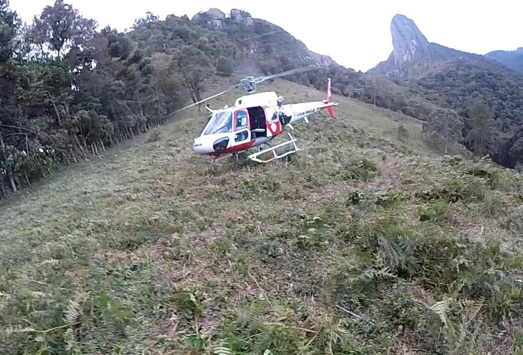Resgate na Serra da Mantiqueira. (Foto: Divulgação)