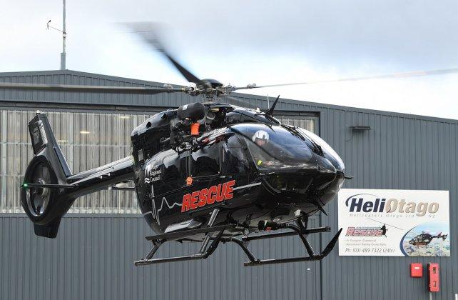 O primeiro helicóptero H145 entregue para New Zealand Helicopter Emergency Services. (Foto: Airbus)