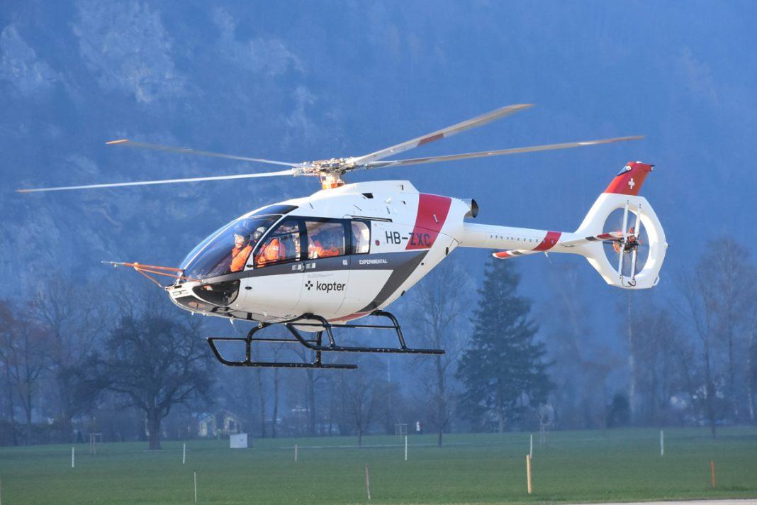 O Kopter SH09 pode ser configurado para transportar até oito passageiros (Kopter)
