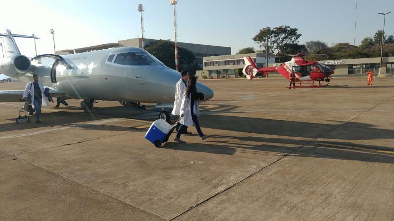FAB transportou o coração de Joinville para Brasilia(Foto: FAB)