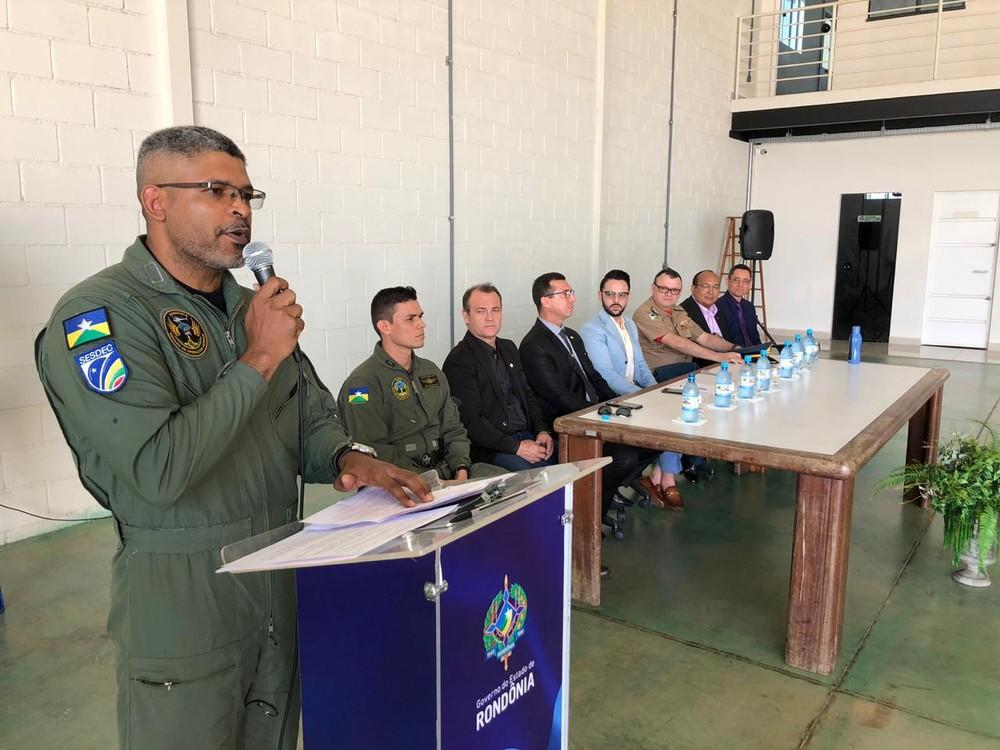 Delegado Evanilson Calixto será o piloto do helicóptero — Foto: Marisson Dourado/CBN