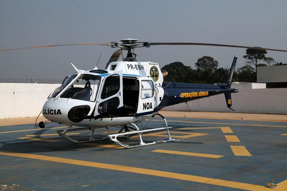 Aeronave Falcão 02 volta a ser utilizada pela polícia de Rondônia — Foto: Frank Néry/Governo de RO/Divulgação