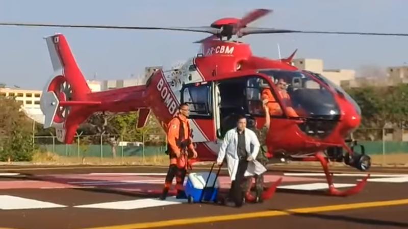 Transporte de coração de Joinville para Brasília aconteceu na quinta-feira(Foto: Reprodução)