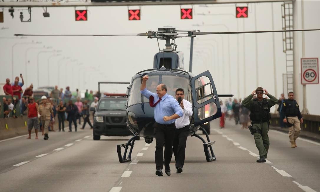 O governador Wilson Witzel Foto: Fabiano Rocha / Fabiano Rocha