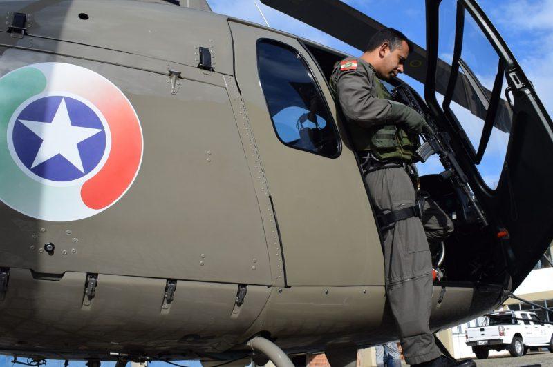 Porta atual da aeronave dificulta as ações da PM – TJSC/Divulgação/ND