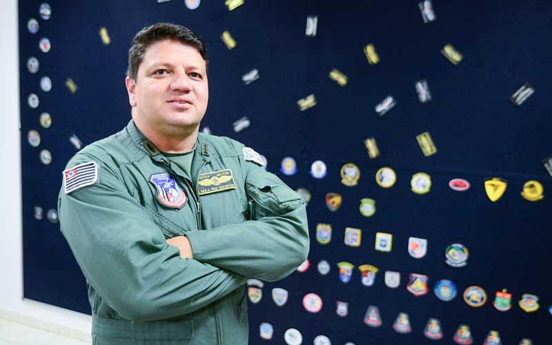 Major Edgard Marcos Gaspar participou da implantação do Grupamento aéreo regional. (Foto: Claudinho Coradini/JP)