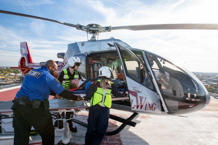 A Airbus terá um H130 operado pela Memphis Hospital Wing (foto) e um H145 operado pela Boston Med Flight em exibição na AMTC 2019.