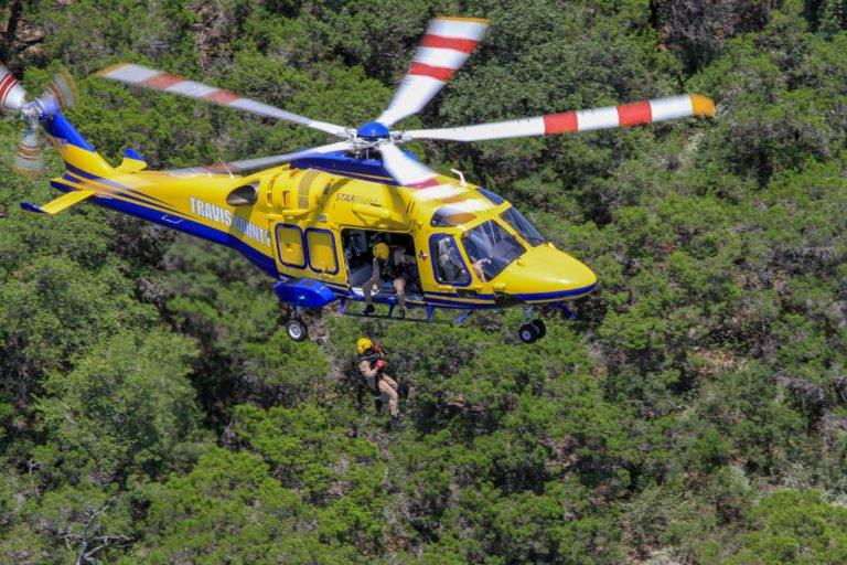 O Condado de Travis, no Texas, tem três helicópteros AW169 EMS em serviço que executam resgates altamente especializados em uma área com mais de 1,2 milhão de habitantes, que inclui Austin. Foto de Tim Pruitt