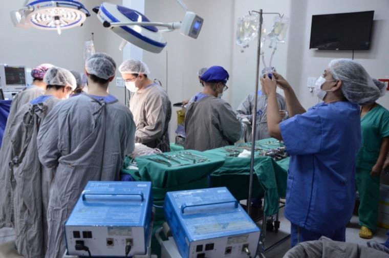 Captação sendo realizada / Foto: Divulgação/Saúde