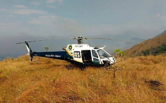 Helicóptero do Centro Integrado de Operações Aéreas (Ciopaer). — Foto: Sesp-MT/Divulgação