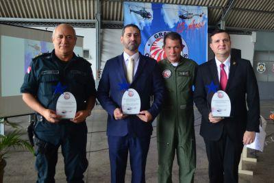 Troféus de reconhecimento foram entregues a quem contribuiu para a eficiência do Grupamento neste ano
