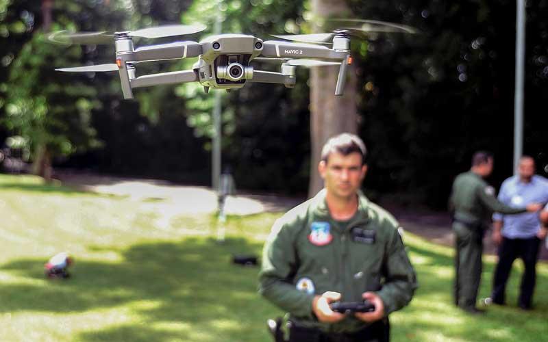 Policiais foram treinados para uso do drone (Claudinho Coradini/JP)