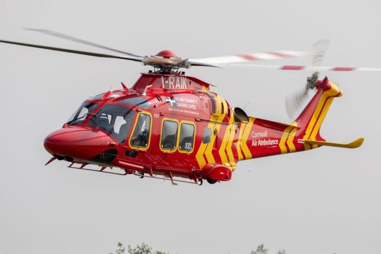 A 100ª entrega AW169 de Leonardo é o primeiro helicóptero Leonardo a entrar na frota da Cornwall Air Ambulance. Fotos de Leonardo