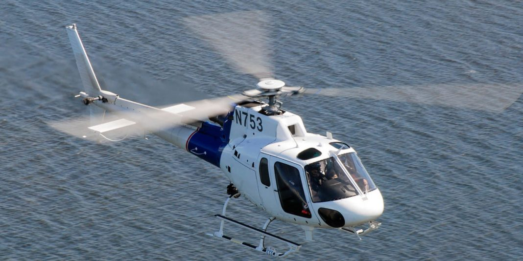 US Customs and Border Protection Eurcopter AS350-B3 during patrol over Key Largo, FL on Nov 3, 2008.