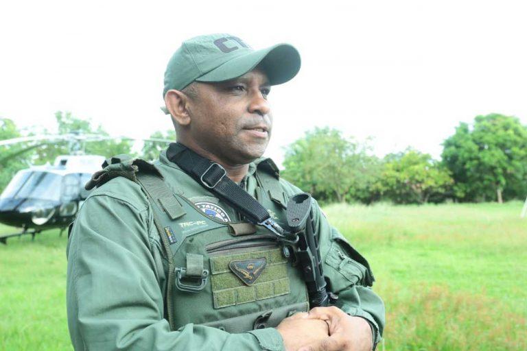 Subtenente Elias de Melo, comandante da base de PK. Foto: Nael Reis/Secap