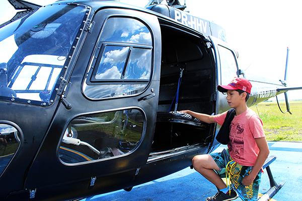 Eduardo foi alvejado acidentalmente em setembro de 2017 no interior de águas de Chapecó. Ele foi resgatado de helicóptero. (Foto: Camila Silveira/Diário do Iguaçu)