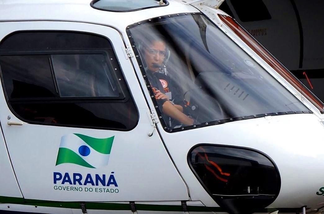 Mariana Botelho durante o preparo para um resgate. Foto: Reprodução/Instagram