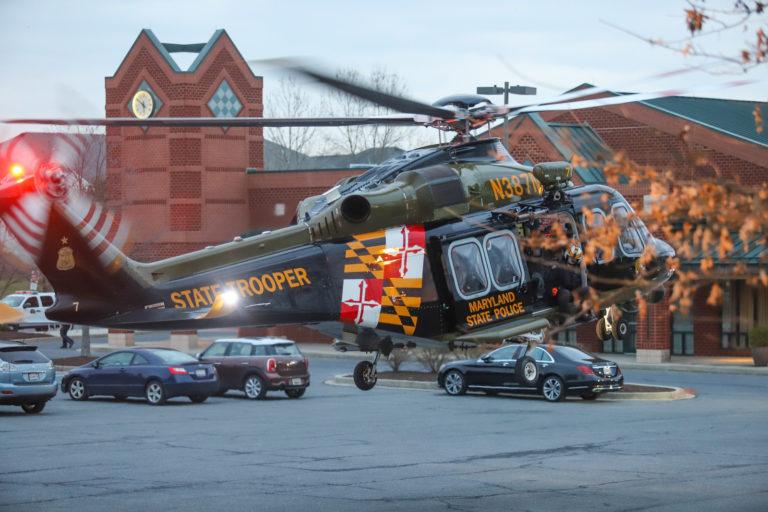 Atualmente, o Comando de Aviação possui uma frota de 10 helicópteros Leonardo AW139 que são designados para várias seções em sete municípios. Foto MSP