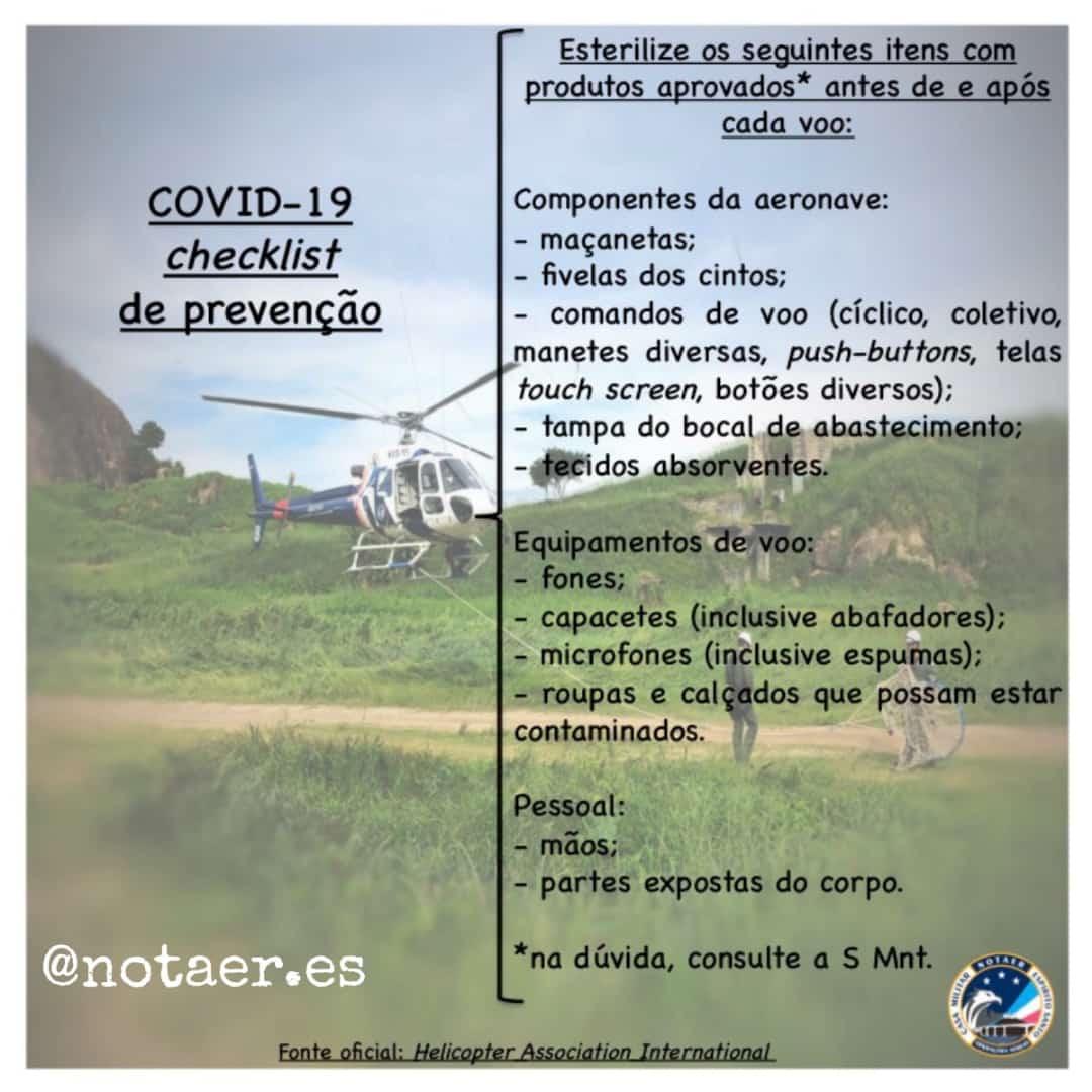 NOTAER Coronavirus Aeromédico