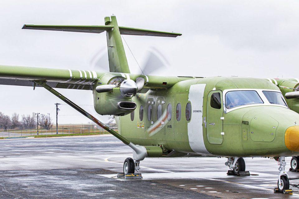 O motor PT6 do SkyCourier em funcionamento (textron)