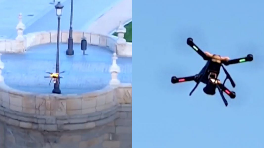 Spanish-police-uses-drones-to-warn-people-to-not-break-quarantine