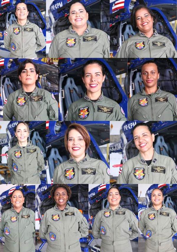 A SSP homenageia as mulheres nas quatro forças estaduais de proteção ao cidadão | FOTO: Montagem da SSP |