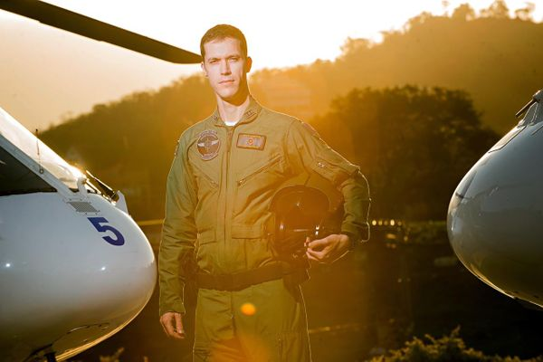 Genilson Hoffmann Rosa, piloto do Notaer. Ele esteve no comando da aeronave que desceu no campo em Venda Nova do Imigrante. Crédito: Arquivo pessoal