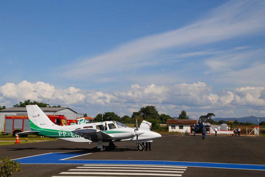 Voe Paraná, aeroporto de União da Vitória. Foto Gilson Abreu