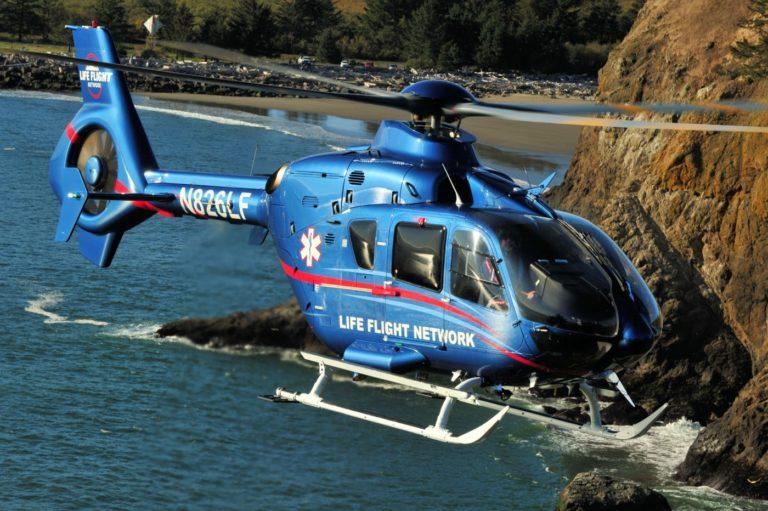 A Life Flight Network, que opera uma frota de 45 aeronaves, concentrou-se em três etapas principais para se preparar para o surto de Covid-19 e garantir a segurança do piloto. Foto do voo da vida