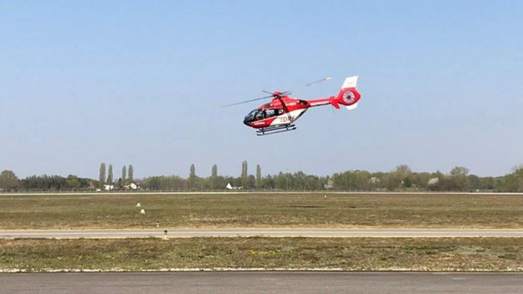 O serviço alemão de ambulância aérea foi à França e à Suíça para transportar pacientes