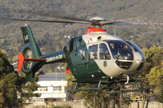 Airbus H135 da Prefeitura da Força Aérea de Carabineros do Chile. Foto: Cristóbal Soto / Revista Vortexx
